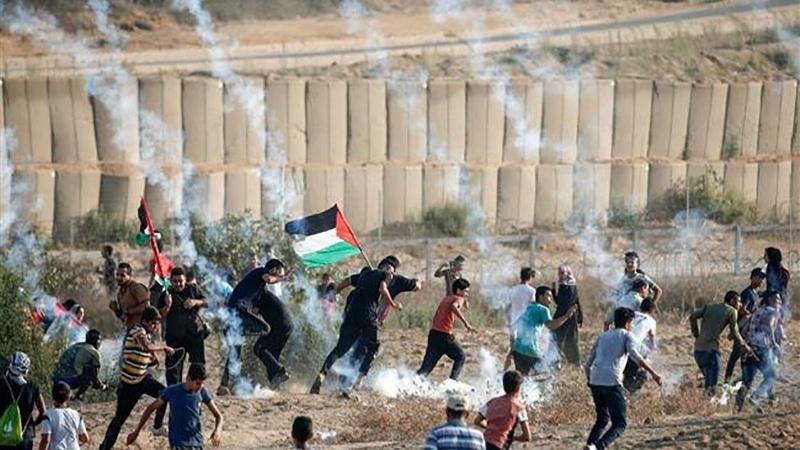 Occupied Palestine - 77th Return March: Zionist entity kills again